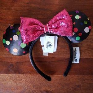 Disney Parks Multi Color Polka Dot Minnie Ears